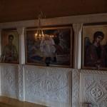 Лампадофор на три лампады, подвешенный к иконостасу. Кронштейн «Херсонес»