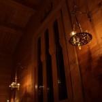 Лампадофор на три лампады, с крестом. Кронштейны «Херсонес»