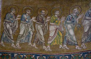 Евхаристия, фрагмент, мозаика в алтарной апсиде, Собор Святой Софии, Киев, XI век