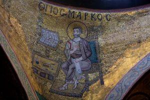Апостол и Евангелист Марк, юго-западный парус, Собор Святой Софии, Киев, XI век