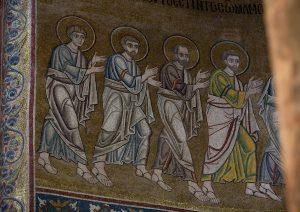 Апостолы из Евхаристии, мозаика, Собор Святой Софии, Киев, XI век