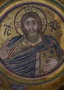 Христос Вседержитель, мозаика в главном куполе, XI век