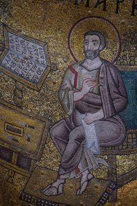 Апостол и Евангелист Марк, мозаика в юго-западном парусе, Собор Святой Софии, Киев, XI век