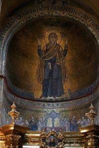 Богородица Оранта, мозаика в конхе алтарной апсиды, Собор Святой Софии, Киев, XI век
