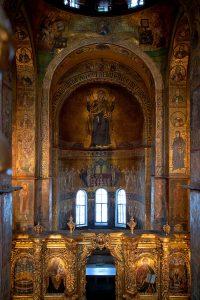 Вид на центральную алтарную апсиду, Собор Святой Софии, Киев, XI век