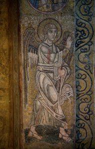 Архангел Гавриил из Благовещения, мозаика на северном алтарном столбе, Собор Святой Софии, Киев, XI век