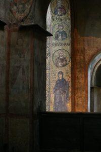 Вид на мозаики южного алтарного столба, Собор Святой Софии, Киев, XI век