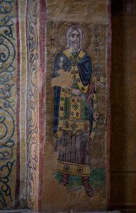 Первосвященник Аарон, мозаика на южной стороне северного алтарного столба, Собор Святой Софии, Киев, XI век