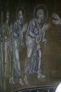 Апостолы из Евхаристии, мозаика в алтарной апсиде, Собор Святой Софии, Киев, XI век