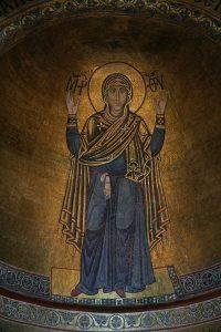Богородица Оранта, мозаика в конхе алтарной апсиды, Собор Святой Софии Киевской, XI век