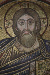 Христос Вседержитель, фрагмент, мозаика в главном куполе, XI век