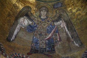 Архангел, мозаика в куполе, Собор Святой Софии, Киев, XI век