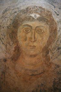 Архангел Михаил, фреска в конхе диаконника