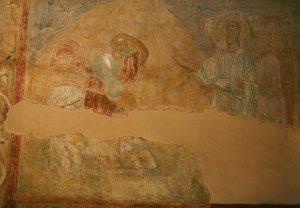 Явление Архангела Михаила пророку Валааму. Собор Святой Софии, Киев, XI в.