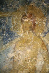 Крещение Господне, фрагмент. Фреска баптистерия Святой Софии Киевской, 12 век.