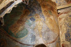 Крещение Господне, фреска баптистерия Собора Святой Софии, г.Киев, 12 век.