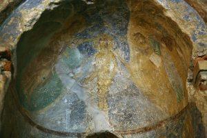 Крещение Господне, фреска баптистерия Святой Софии Киевской, 12 век.