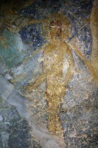 Христос (фрагмент Крещения Господня), фреска баптистерия Святой Софии Киевской, 12 век.