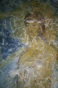Христос (фрагмент Крещения Господня), фреска баптистерия Святой Софии, Киев, 12 век.