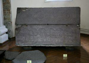 Саркофаг святой княгини Ольги. Шифер, X в. Собор Святой Софии, г.Киев.