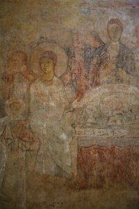 Гостеприимство Авраама, фрагмент. Собор Святой Софии, Киев, XI в.