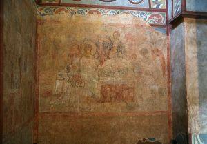 Явление Троицы Аврааму (гостеприимство Авраама). Собор Святой Софии, Киев, XI в.