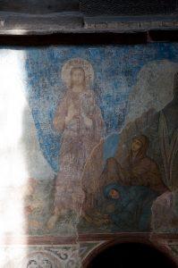 Явление воскресшего Христа женам мироносицам. Собор Святой Софии, Киев, XI в.