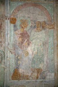 Ложа императора на ипподроме, росписи лестничной башни