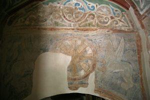 Хризма (монограмма Христа) и грифоны