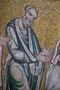Апостол и Евангелист Иоанн из Евхаристии. Мозаика Михайловского мон-ря, г.Киев, ок. 1112 г.