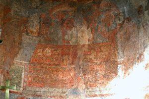 Евхаристия, фрагмент. Фреска в алтарной апсиде. Кирилловская церковь, Киев, 12 в.