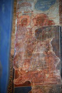 Сретение, фреска северного алтарного столба. Кирилловская церковь, Киев, 12 в.