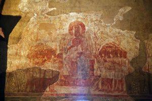 Лоно Авраамово - праведники в Раю. Кирилловская церковь, Киев, 12 в.