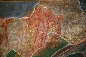 Страшный Суд, фрагмент фрески. Кирилловская церковь, Киев, 12в.