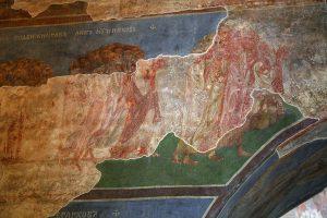 Страшный Суд, фрагмент фрески в нартексе Кирилловской церкви, Киев, 12в.