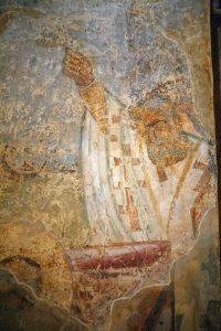 Погребение свт.Кирилла Александрийского, фрагмент. Кирилловская церковь, Киев, 12 в.