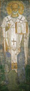 Святитель Николай. Фреска Михайловского собора, г.Киев, ок. 1112 г. Третьяковская галерея.