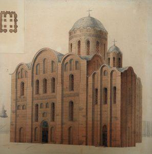 Реконструкция первоначального вида Михайловского собора.